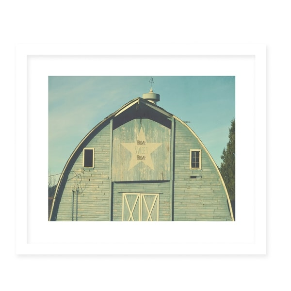 LAND THAT I LOVE HOME SWEET HOME White Framed Giclee Print By Robin Delean