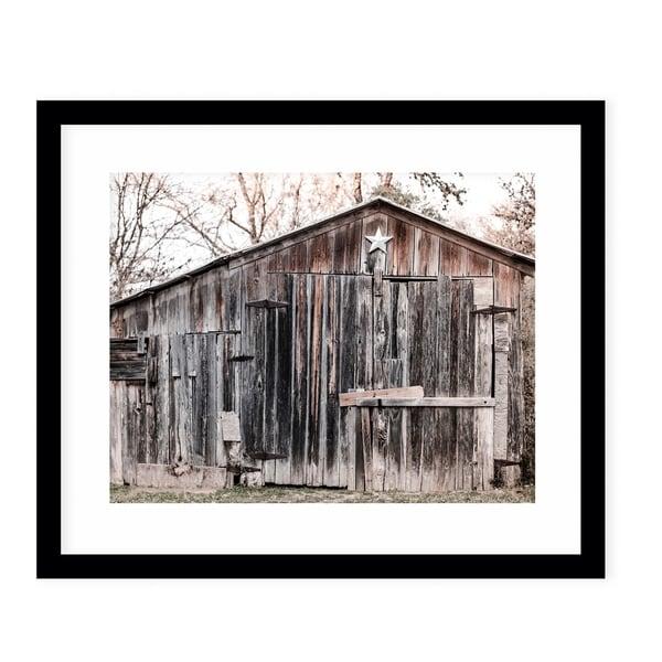 LONE STAR BARN Black Framed Giclee Print By Ann Hudec