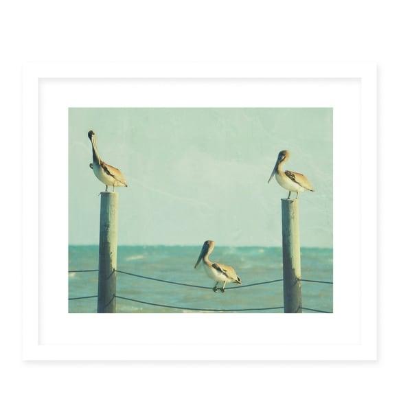 NOSTALGIA White Framed Giclee Print By Robin Delean