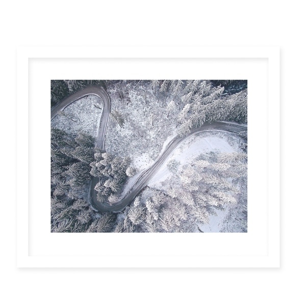 CURVES White Framed Giclee Print By Robin Delean