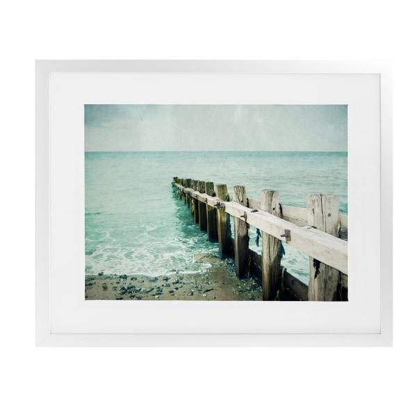 JETTY White Framed Giclee Print By BomoBob
