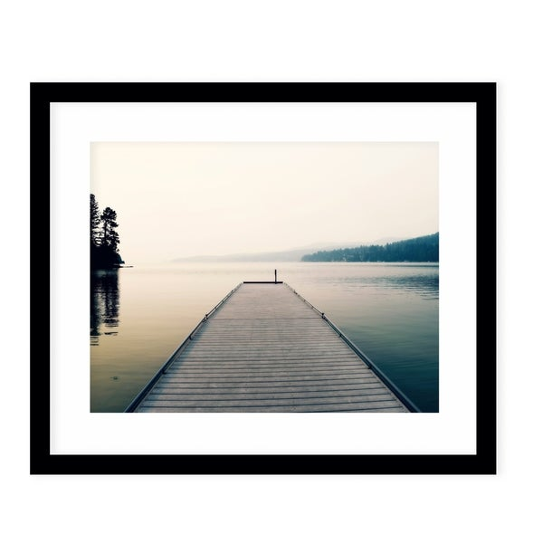 TRANQUILITY Black Framed Giclee Print By Robin Delean
