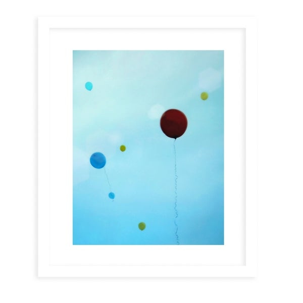 YOU BRIGHTEN MY DAY White Framed Giclee Print By Robin Delean