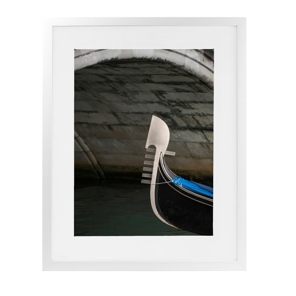 GONDOLA BOW UNDER ARCH COLOR White Framed Giclee Print By David Phillips