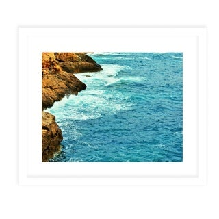 BEACH ISLAND TWO  White Framed Giclee Print By Jolina Anthony