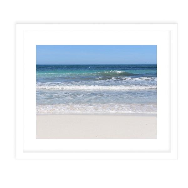 BEACH SCENE TWO White Framed Giclee Print By Jolina Anthony