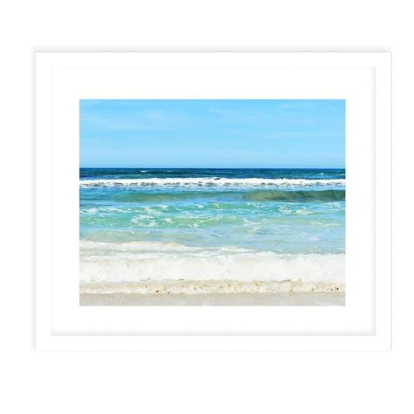 BEACH SCENE FOUR White Framed Giclee Print By Jolina Anthony