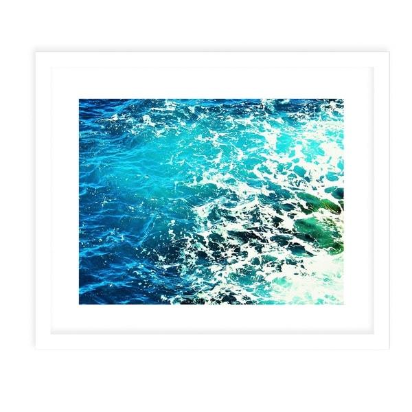 OCEAN BLUE TWO White Framed Giclee Print By Jolina Anthony