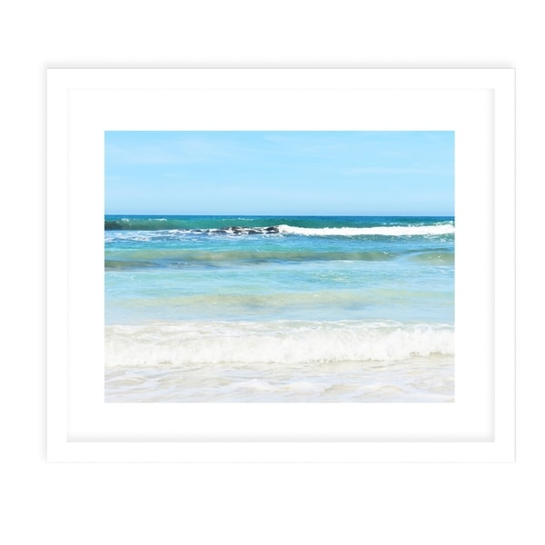 BEACH SCENE THREE White Framed Giclee Print By Jolina Anthony
