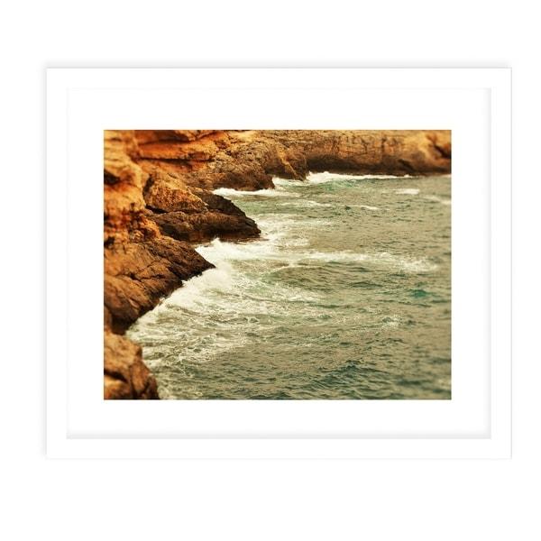 BEACH ISLAND THREE White Framed Giclee Print By Jolina Anthony
