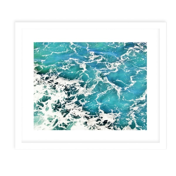 BEACH WAVES FOUR White Framed Giclee Print By Jolina Anthony