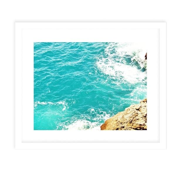 OCEAN CLIFF White Framed Giclee Print By Jolina Anthony