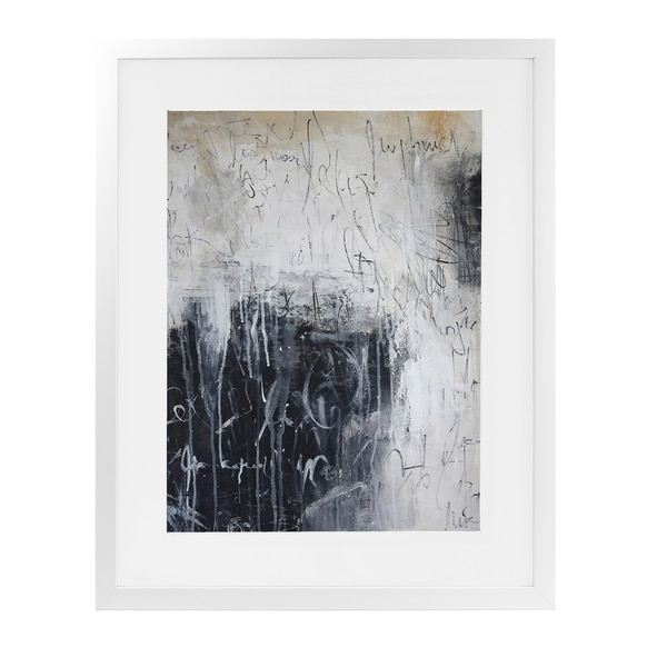 CHALKBOARD ABSTRACT White Framed Giclee Print By Jolina Anthony