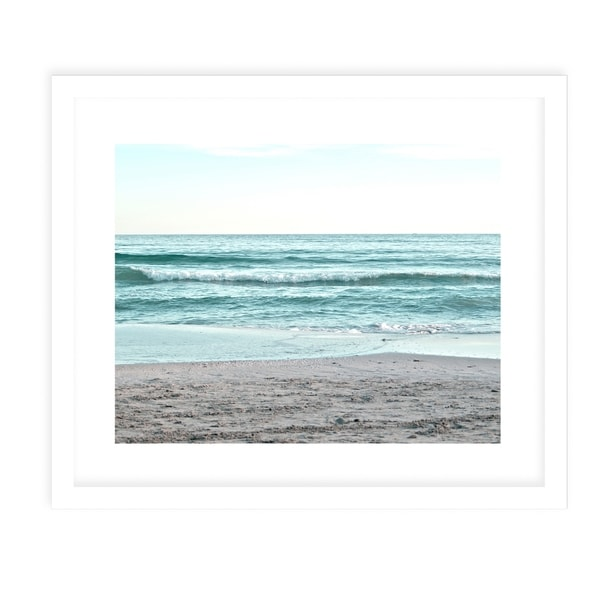 SEASIDE TWO White Framed Giclee Print By Jolina Anthony