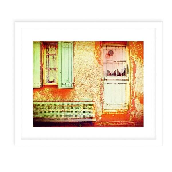 PALMA ONE VINTAGE White Framed Giclee Print By Jolina Anthony