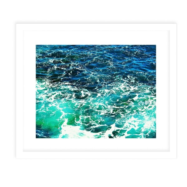 BEACH WAVES SIX White Framed Giclee Print By Jolina Anthony