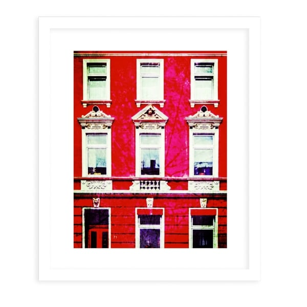 PALMA FOUR VINTAGE HAUS White Framed Giclee Print By Jolina Anthony