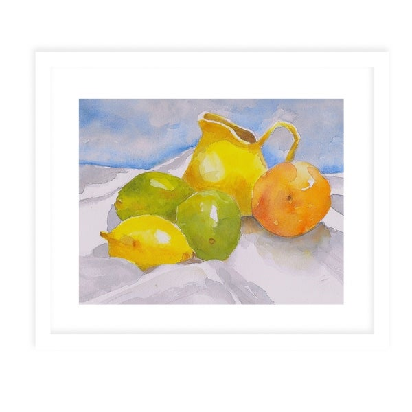 FRUITS White Framed Giclee Print By Jayne Conte