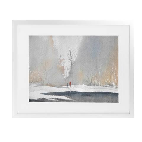 WINTER White Framed Giclee Print by Kavka Designs