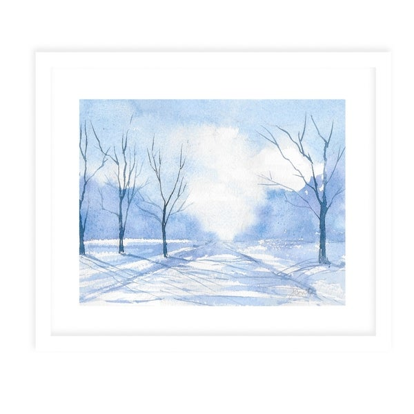 BLUE ROAD White Framed Giclee Print By Jayne Conte