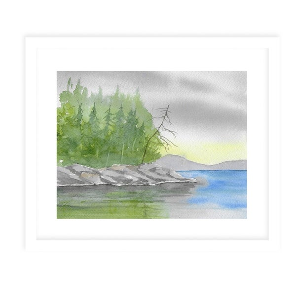 THE PINES White Framed Giclee Print By Jayne Conte