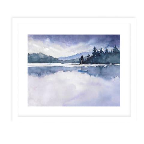 PURPLE SKYS White Framed Giclee Print by Kavka Designs