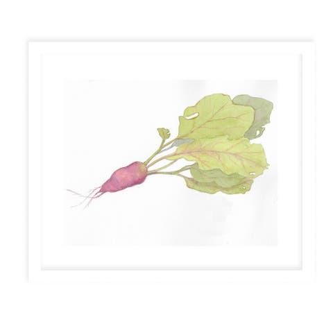 RED RADISH White Framed Giclee Print by Kavka Designs