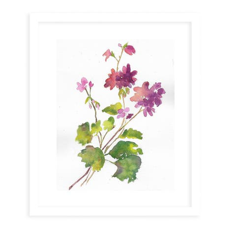 GERINIUMS White Framed Giclee Print by Kavka Designs