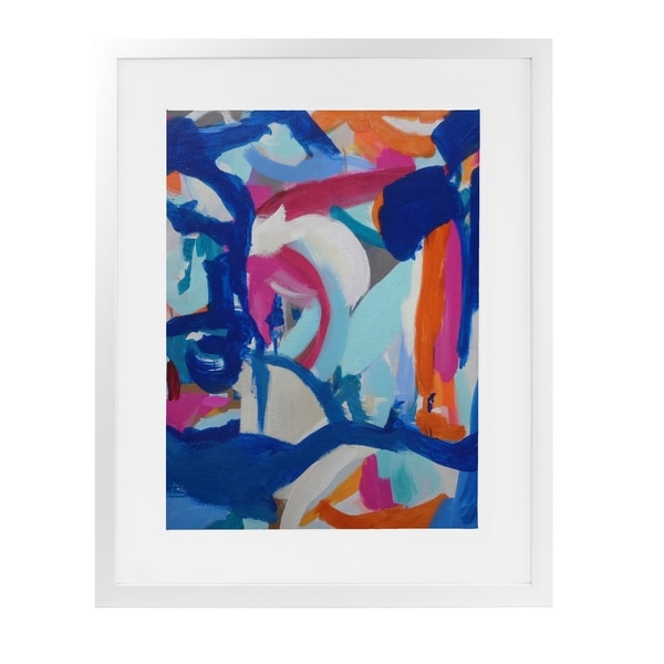 WAFFLE RODEO White Framed Giclee Print By Susan Skelley