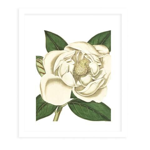 FLOWER EIGHT WHITE White Framed Giclee Print by Kavka Designs