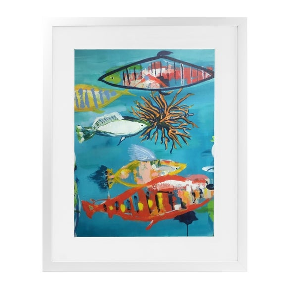 WHERE TO NOW White Framed Giclee Print By Susan Skelley