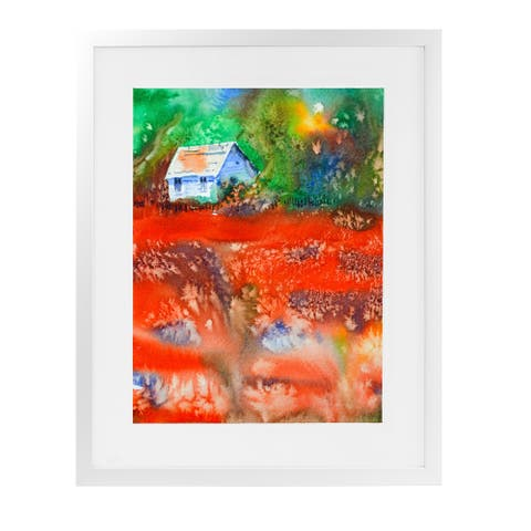 THE HOUSE White Framed Giclee Print by Kavka Designs
