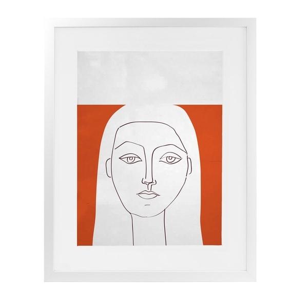 ANGENAULT RED HELEN White Framed Giclee Print By Villa Capri