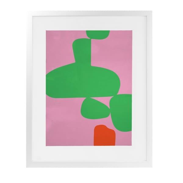 ANGENAULT PINK VS GREEN White Framed Giclee Print By Villa Capri