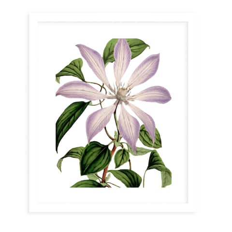FLOWER ELEVEN WHITE White Framed Giclee Print by Kavka Designs