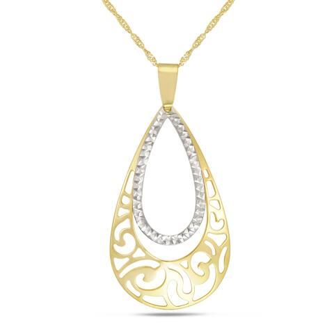 """Forever Last 10 K Gold Bonded over Silver 18"""" filigree Necklace"""