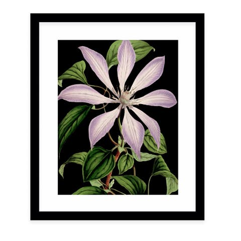 FLOWER ELEVEN BLACK Black Framed Giclee Print by Kavka Designs