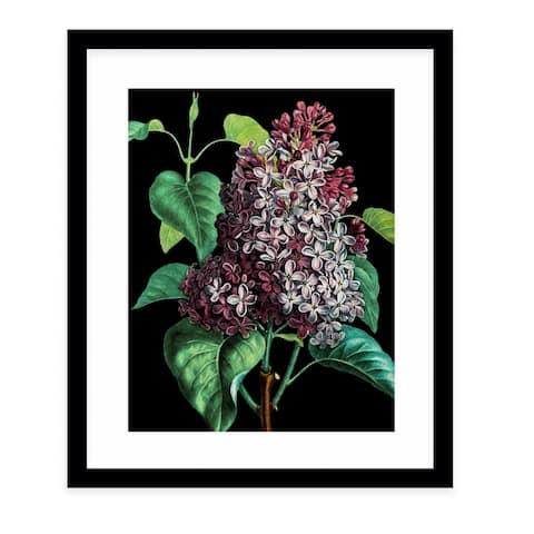 FLOWER TWENTY THREE BLACK Black Framed Giclee Print by Kavka Designs