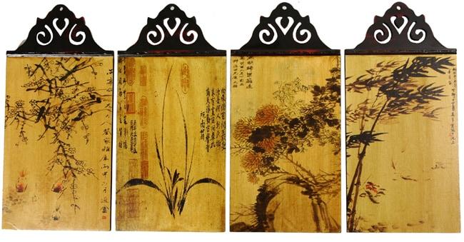 Four Seasons Set of Wall Hangings (China)