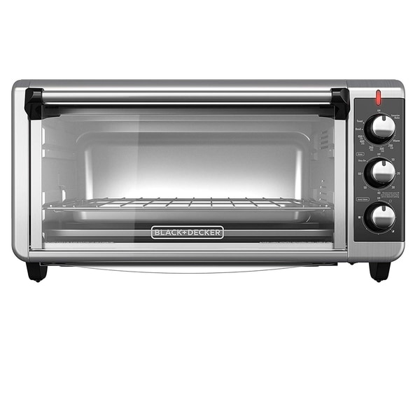 Black & Decker TO3250XSB Extra-Wide 8-Slice Toaster Oven - Silver. Opens flyout.