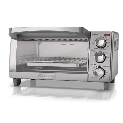 Black & Decker TO1760SS 4-Slice Toaster Oven, Stainless Steel with Natural Convection - Silver