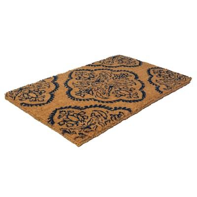 Williamsburg Persian Medallion Handwoven Coconut Fiber Doormat - 22 x 35