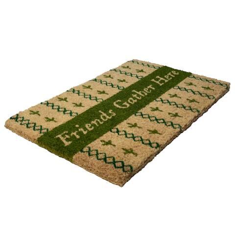 Williamsburg Friends Gather Here Handwoven Coconut Fiber Doormat - 22 x 35