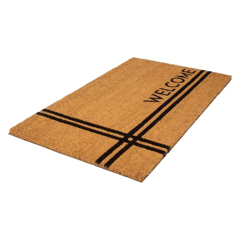 Crisscross Welcome Coir Doormat
