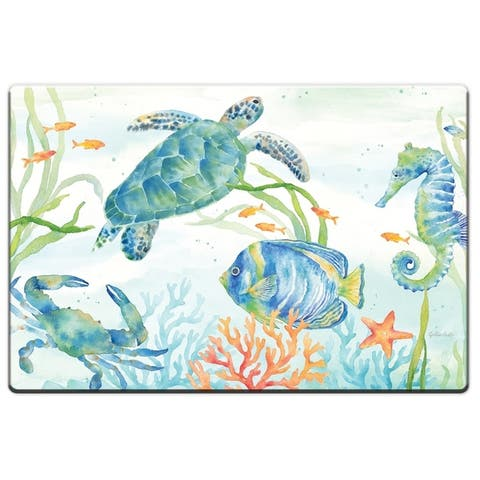 "Decorative Anti-Fatigue Floor Mats 30"" x 20"" - Sea Life Serenade - 30"" x 20"""