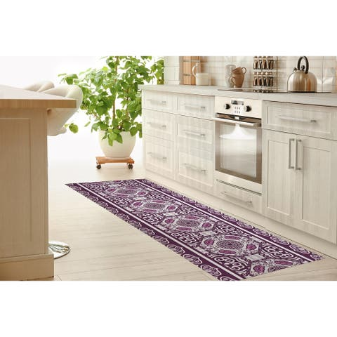 LASHA PLUM Kitchen Mat By Kavka Designs