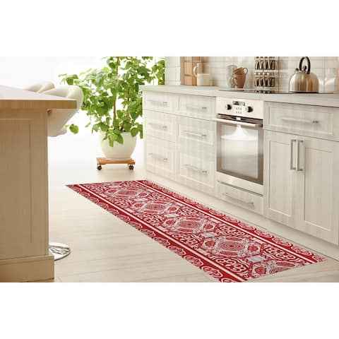 LASHA RED Kitchen Mat By Kavka Designs
