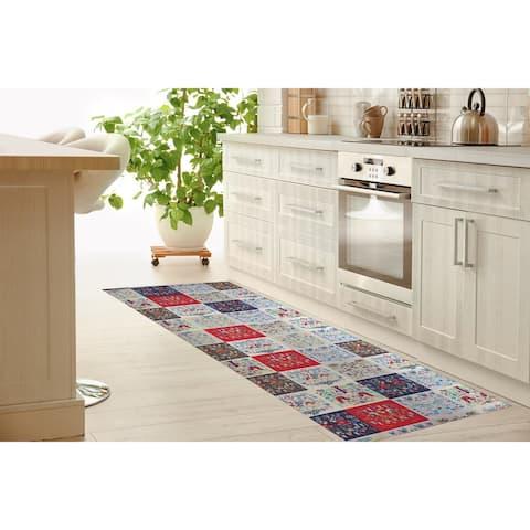 SCANDINAVIAN PATCHWORK Kitchen Mat By Kavka Designs