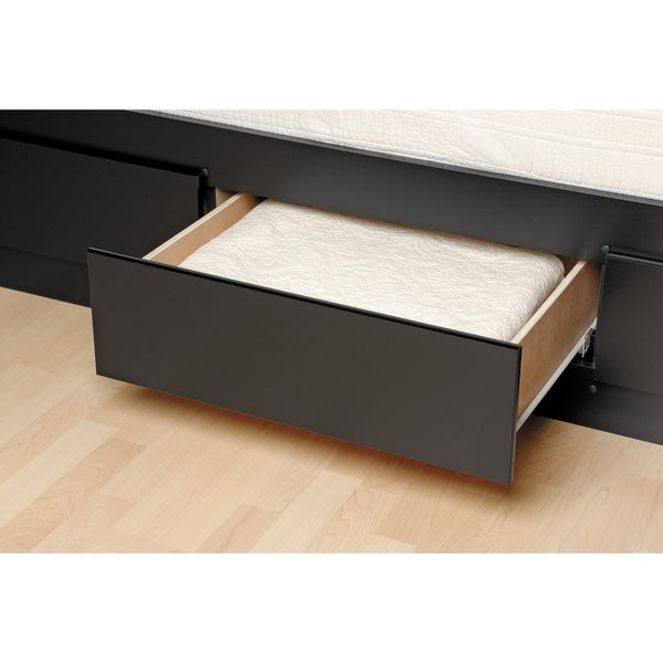 black twin xl mateu0027s platform storage bed with 3 drawers free shipping today