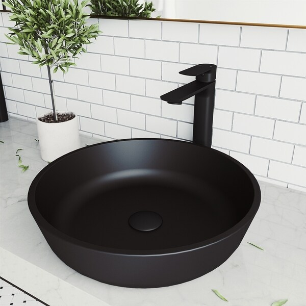 Vigo Black Rectangular Sottile Matteshelltm Tempered Glass Vessel Bowl Bathroom Sink Bathroom Fixtures Tools Home Improvement Ekoios Vn